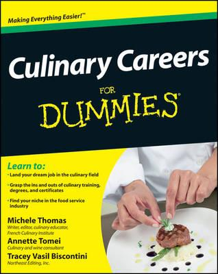 Culinary Careers For Dummies (BOK)