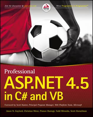 Professional ASP.NET 4.5 in C# and Vb (BOK)