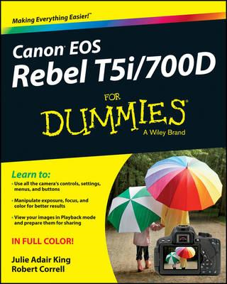 Canon Eos Rebel T5i/700D for Dummies (BOK)
