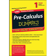 1,001 Pre-Calculus Practice Problems for Dummies Access Code Card (1-Year Subscription) (BOK)