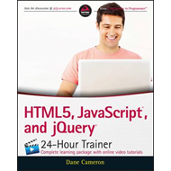 HTML5, JavaScript and jQuery 24-Hour Trainer (BOK)