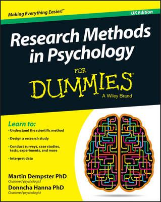 Research Methods in Psychology for Dummies (BOK)