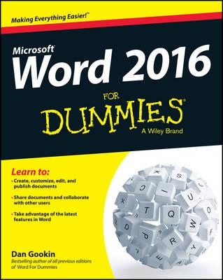Word 2016 For Dummies (BOK)