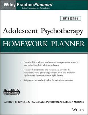 Adolescent Psychotherapy Homework Planner, Fifth Edition (BOK)