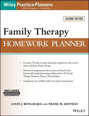 Family Therapy Homework Planner (BOK)