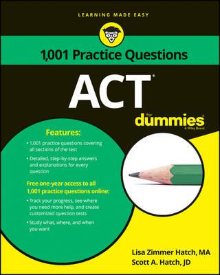 1,001 ACT Practice Problems For Dummies (BOK)