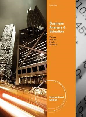 Business Analysis and Valuation (BOK)