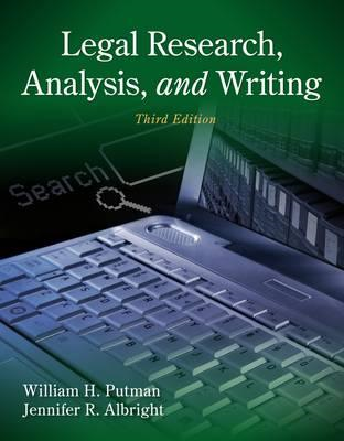 Legal Research, Analysis and Writing (BOK)
