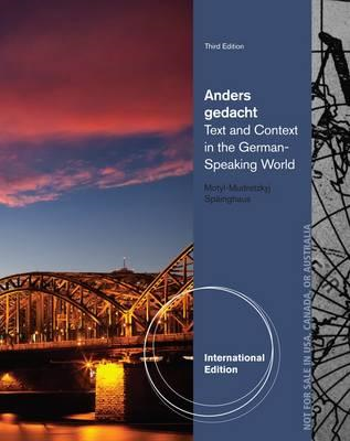 Anders Gedacht: Text and Context in the German-speaking World (BOK)