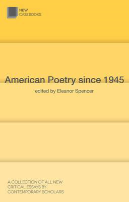 American Poetry since 1945 (BOK)