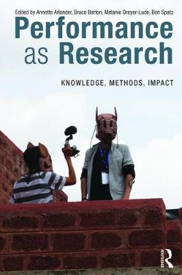 Performance as Research (BOK)