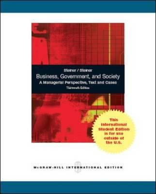Business, Government and Society: A Managerial Perspective (BOK)