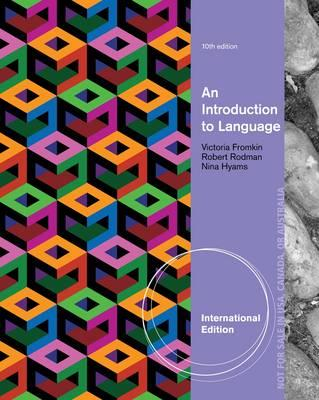 Introduction to Language, International Edition (BOK)