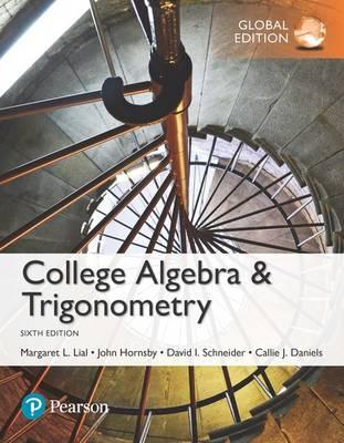 College Algebra and Trigonometry, Global Edition (BOK)