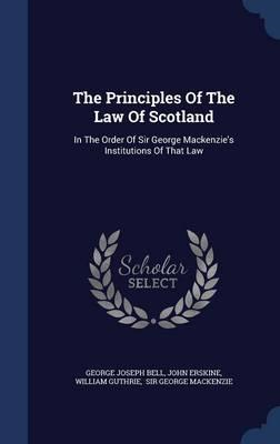 Principles of the Law of Scotland (BOK)