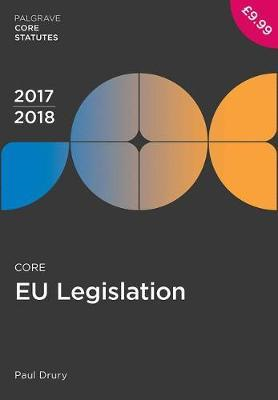 Core EU Legislation 2017-18 (BOK)