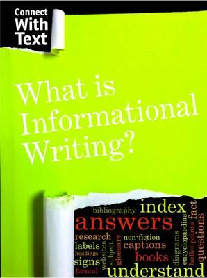 What is Informational Writing? (BOK)