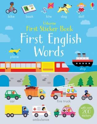 First Sticker Book First English Words (BOK)