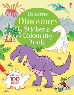Dinosaurs Sticker & Colouring Book (BOK)