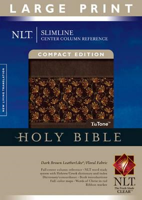 Slimline Center Column Reference Bible-NLT-Large Print Compa (BOK)