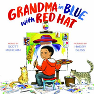 Grandma in Blue with Red Hat (BOK)