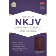 Large Print Compact Reference Bible-NKJV-Magnetic Flap (BOK)