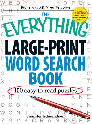 Everything Large-Print Word Search Book (BOK)