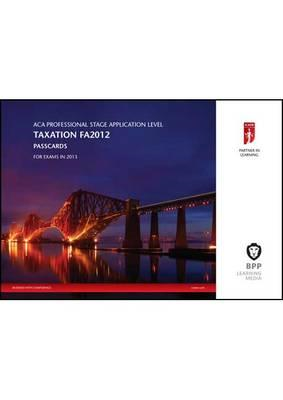 ICAEW - Taxation (FA 2012): Passcards (BOK)