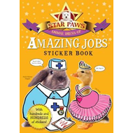 Amazing Jobs Sticker Book: Star Paws: An Animal Dress-up Sticker Book (BOK)