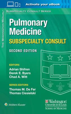 Washington Manual Pulmonary Medicine Subspecialty Consult (BOK)