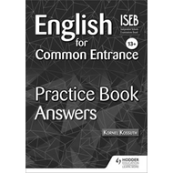 English for Common Entrance 13+ Practice Book Answers (BOK)