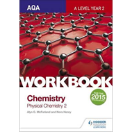 AQA A Level Year 2 Chemistry Workbook: Physical chemistry 2 (BOK)
