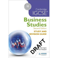 Cambridge IGCSE Business Studies Study and Revision Guide 2n (BOK)