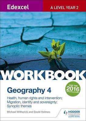 Edexcel A Level Geography Workbook 4: Health, human rights a (BOK)