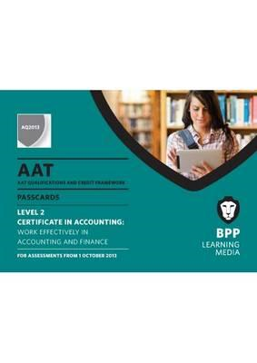 AAT Work Effectively in Accounting and Finance: Passcards (BOK)