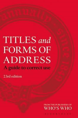 Titles and Forms of Address (BOK)