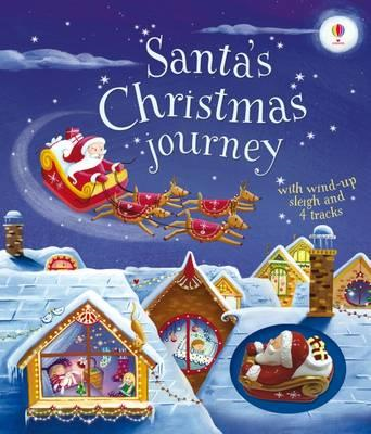 Santa's Christmas Journey with Wind-Up Sleigh (BOK)