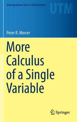 More Calculus of a Single Variable (BOK)