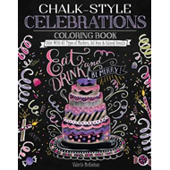 Produktbilde for Chalk-Style Celebrations Coloring Book (BOK)