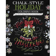 Produktbilde for Chalk-Style Holiday Coloring Book (BOK)