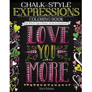 Produktbilde for Chalk-Style Expressions Coloring Book (BOK)