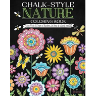 Chalk-Style Nature Coloring Book (BOK)
