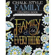 Chalk-Style Family Coloring Book (BOK)