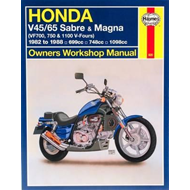 Honda V45/65 Sabre and Magna (VF700, 750 and 1100 V-Fours): Owners Workshop Manual (BOK)