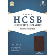 Large Print Ultrathin Reference Bible-HCSB (BOK)