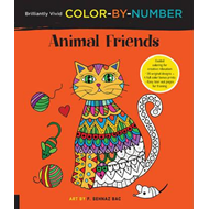 Brilliantly Vivid Color-by-Number: Animal Friends (BOK)