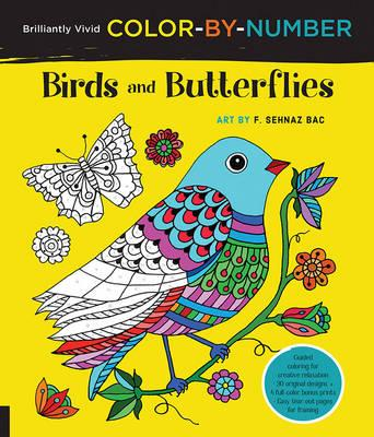 Brilliantly Vivid Color-by-Number: Birds and Butterflies (BOK)