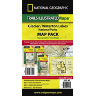 Glacier/Waterton Lakes National Parks, Map Pack Bundle (BOK)