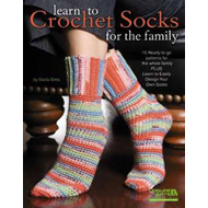 Learn to Crochet Socks for the Family (BOK)