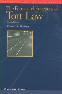 Forms and Functions of Tort Law (BOK)